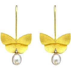 Pre-owned Tiffany & Co. Butterfly and Pearl Dangle Earrings