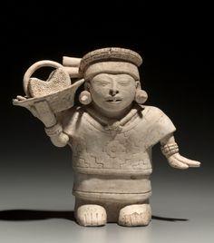 Female with Basket, 600-1000 Gulf Coast, Mexico, Nopiloa style, 7th-10th century