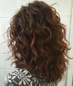 Mid-Length Curly Layered Haircut