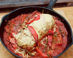 Baked Meat Loaf In Tomato Sauce