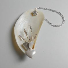 pendant from shells and silver findings