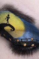 Disney Movie inspired eye makeup. So cool.