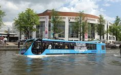 The Floating Dutchman is one of the rare amphibious bus tours in the world. The bus tour begins at the airport Schiphol or the Amsterdam City Center (opposite the Centraal Station) and heads into the city. It splashes directly into the canals to show you the sights and return you to the location where you departed. The bus complies with all road regulations as well as all water regulations, making this a rare and authentically Dutch experience.