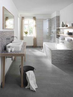 Plan de travail de salle de bain en mosaique