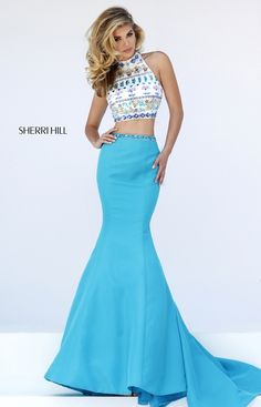 Sherri Hill two piece prom dress - prom dresses at Hope's Bridal