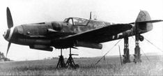 A Me 109G-6 of 12./JG 2 is prepared for test firing 21cm rockets at Beaumont Le Roger in 1943