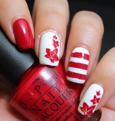 OPI-OPI-Red-Canada-Day-Nail-Art-Red-Coat-Tuesday-Nails #nails #nailart #canadadaynails #opi, #cultnails #nailvinyls #polish #nailpolish #bundlemonster #nailstamping