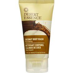 Desert Essence Body Wash - Coconut - Travel Size - 1.5 Fl Oz - 1 Case