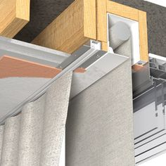Recessed curtain track – Blindspace illustration Source by senkivtaras Ceiling Curtain Track, Ceiling Curtains, Custom Closet Design, Closet Designs, Blinds For Windows, Curtains With Blinds, Window Blinds, Store Toile, Decor Around Tv