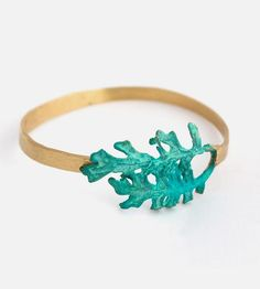 Leaf Brass Cuff Bracelet by Nancy Nelson Jewelry on Scoutmob Shoppe