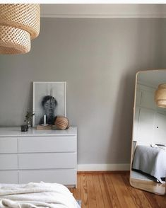 Now and then people ask us how / where the is ment to hang - the answer is ➡️ high or low, over a table or in a corner - lay it down on a table, shelf or even on the floor 💚 Malm Dresser, Dresser As Nightstand, Dressers, Kinfolk Magazine, Ikea Malm, Bedroom Decor, Bedroom Ideas, Home Decor Inspiration, A Table