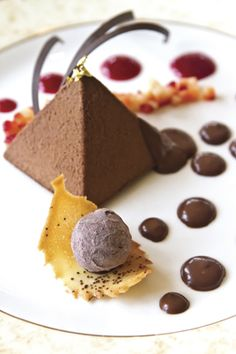 #plating #presentation chocolate