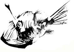 angler fishm drawing - Google Search