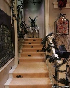 10 Halloween Staircase Decorating Ideas