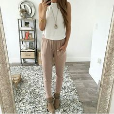 Life is better in joggers  shop our super soft Tristan joggers #instalook #chic #neutrals