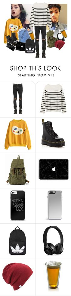 """-the two sitting there talking while Jasmine played on her computer-"" by caligirl199 ❤ liked on Polyvore featuring Paul Frank, RtA, Levi's, Dr. Martens, Topshop, Beats by Dr. Dre and Coal"