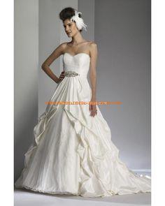 Romantische Brautkleider 2012 Bestverkauft aus Taft A-Linie mit Schleppe