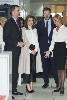 King Felipe and Queen Letizia Visit Zeta Group On Its 40th Anniversary