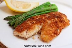 Baked Coconut Crusted Tilapia | Yummy, Healthy, CRISPY-on-outside, Smooth& Flakey-on-inside | Quality Carbs & Protein Together! | For MORE RECIPES please SIGN UP for our FREE NEWSLETTER www.NutritionTwins.com