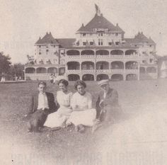 The Columbian at Thousand Island Park provides the background for this foursome in August 1911. Alexandria Bay, Island Park, Thousand Islands, Historical Images, Whistler, River, History, Vintage, Historia
