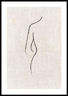 Texture Line Curve Poster - Zeichnung Minimalist Drawing, Minimalist Art, Minimalist Painting, Art Drawings Sketches, Easy Drawings, Tattoo Sketches, Tattoo Drawings, Simple Line Drawings, Art Abstrait Ligne