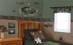 Ideas for Teegan's Camo Room