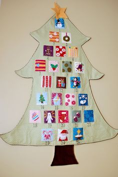 more info on advent calendar & felt squares