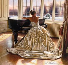 By Rob Hefferan - Lovely gown, very reminiscent of 19th century grand attire.