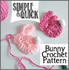 Check out this Simple & Quick Bunny Crochet Pattern at Sparkles of Sunshine. Crochet a bunny applique in minutes with these easy to follow pattern!