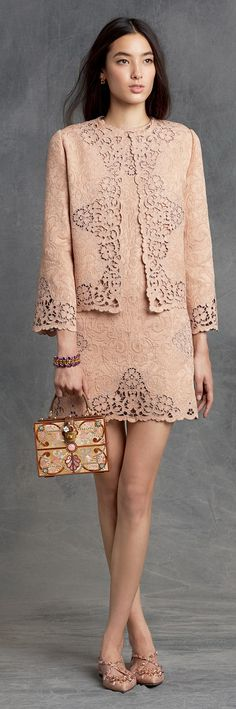 Wear a Matching Lace Outfit as inspired by Dolce & Gabbana Beautiful Outfits, Cool Outfits, Fashion Outfits, Womens Fashion, Fashion Trends, Blush Dresses, Sexy Dresses, Dresses 2016, Robes Glamour