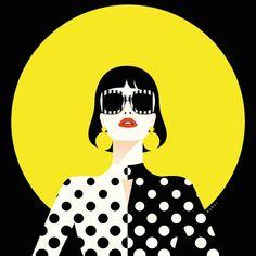 Personal work inspired by 😎 Swipe to see her beautiful Pic Arte Pop, Pop Art Drawing, Art Drawings, Pop Art Illustration, Portrait Illustration, Plakat Design, Diy Canvas Art, Art For Art Sake, Grafik Design