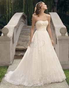 Not fitted, but still very beautiful! Casablanca Bridal Fall 2014 - Style- 2170