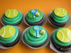 Tennis and Swim cupcakes made for Samena.
