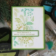 Project Ideas for Clear Photopolymer Stamp Set - Holly Jolly Sentiments Christmas Cards To Make, Merry Little Christmas, Christmas Stencils, Chalk Ink, Card Making Inspiration, Stampin Up Cards, Cardmaking, Paper Crafts, Scrapbook