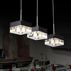 Ceiling lights ItalianStyle Minimalist 3 Light Pendant with Transparent Shade * Check out this great product. (Note:Amazon affiliate link)