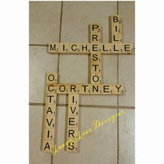 Scrabble tiles - we love making these for our customers !