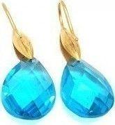 Σκουλαρίκια Senza Steel Gold Blue Crystals SSD35277