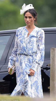 The Duchess of Sussex, 36, divided fashion fans with her £3,922 printed frock, which she wore at the wedding of Prince Harry's cousin Celia McCorquodale
