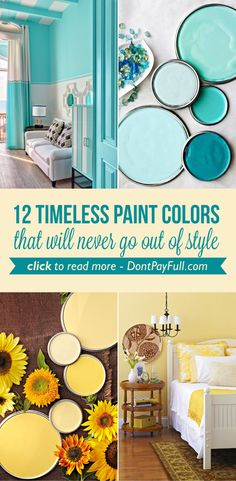 12 Timeless Paint Colors That Will Never Go Out Of Style -  http://www.dontpayfull.com/blog/12-timeless-paint-colors-that-will-never-go-out-of-style