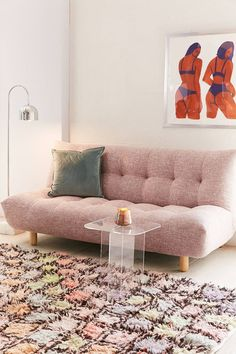 Slide View: 1: Winslow Armless Sleeper Sofa