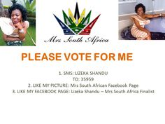 Please Vote for me to be in Top 25