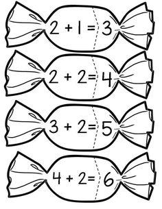 This Pin was discovered by ÖĞR Kindergarten Math Activities, Kids Math Worksheets, Teaching Math, Learning Activities, Preschool Activities, Numbers Preschool, Math Numbers, Math For Kids, Fun Math