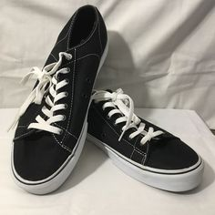 840c47b782 Mens Size 13 VANS Off The Wall Black Canvas Shoes Casual Sneakers