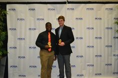 2014 #PCASA Offensive Football Large and Small School Players of the Year - Justin Henderson, Lake Wales High School - Caleb Lewis, Victory Christian