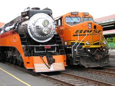 Steam and Diesel locomotives