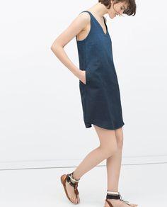 Image 2 of OMBRE INDIGO DRESS from Zara