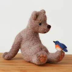One absolutely gorgeous hand felted bear.