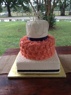 Wedding cakes navy and coral gray 24 Ideas Coral Navy Weddings, Coral Wedding Cakes, Wedding Cakes With Cupcakes, Blue Wedding, Wedding Colors, Dream Wedding, Orange Weddings, Wedding Vows, Elegant Wedding