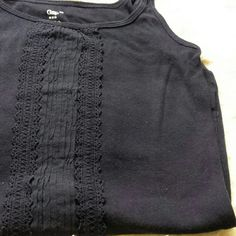 Gap Lace Center Cami GAP Lace Center cami in navy. In excellent condition! GAP Tops Camisoles