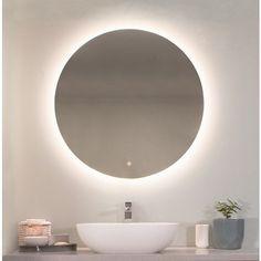 Buy Reflekta LED Round Pencil Edge Mirror from Highgrove Bathrooms. Leaders in bathroom, kitchen and wet area design. Bathroom Renos, Bathroom Interior, Bathrooms, Bathroom Mirrors, Bathroom Ideas, Bathroom Designs, Illuminated Mirrors, Mirror With Led Lights